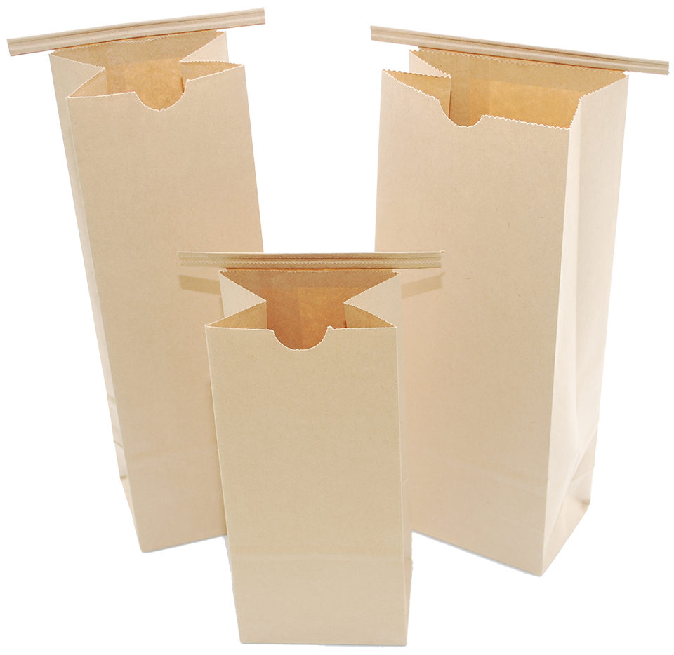 Compole Paper Bags With Resealable Zipper