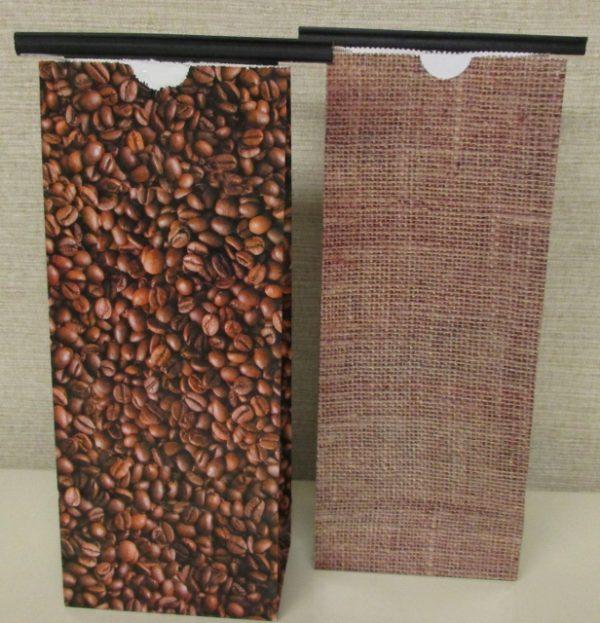 custom specialty beans burlap tin tie bags