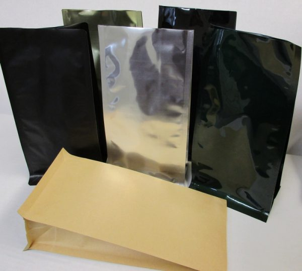 CUSTOM PRINTED QUAD SEAL SQUARE BOTTOM BAGS