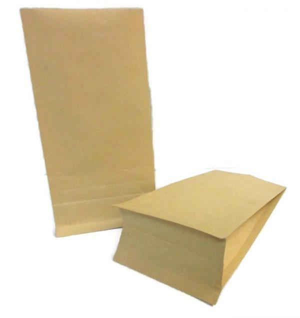 brown paper custom stand up packaging bags