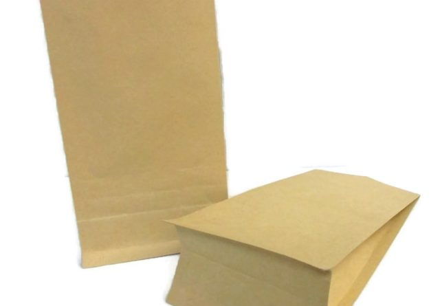brown paper custom stand up packaging bags