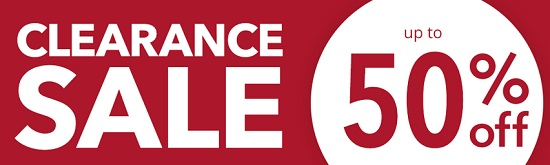 Clearance Sale: Up to 50% Off
